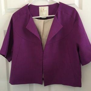 Kate Spade New York Purple Linen Jacket